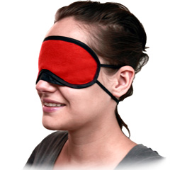 Velvet Double Strap Blindfold Eye Mask Red