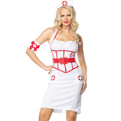 Leg Avenue Sexy Naughty Nurse Costume, Small