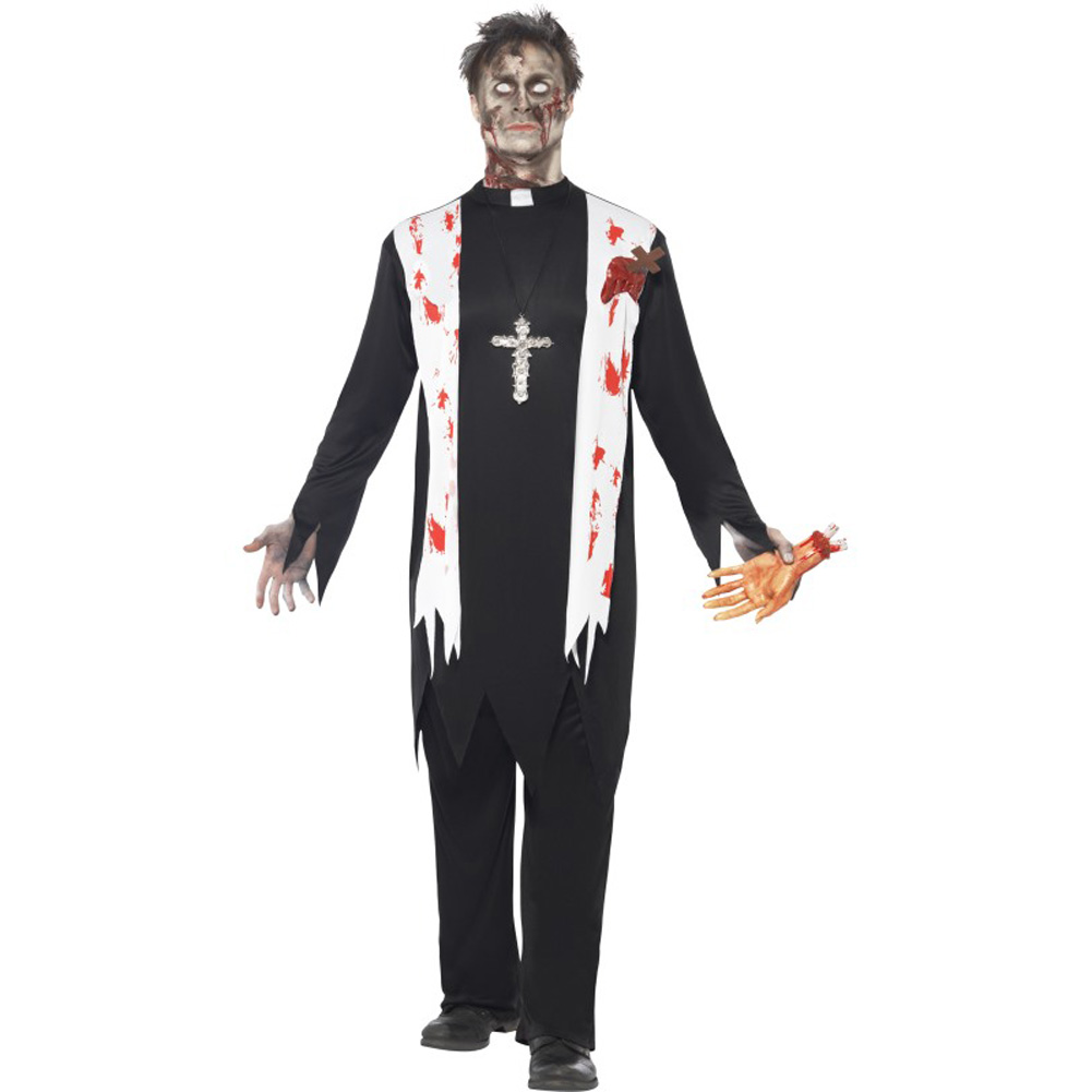 Zombie Priest Costume, Medium