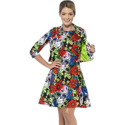 Smiffys Day Of The Dead Dress Suit Costume, Small