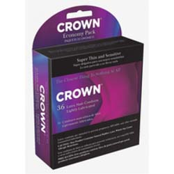 Beyond Seven Crown Super Thin Lubricated Condoms, Pack of 36