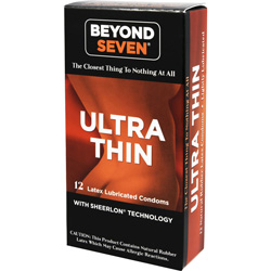 Beyond Seven Lightly Lubricated Latex Condoms, 12 Pack