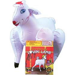 Pipedream Lovin Lamb Inflatable Sheep Doll, White