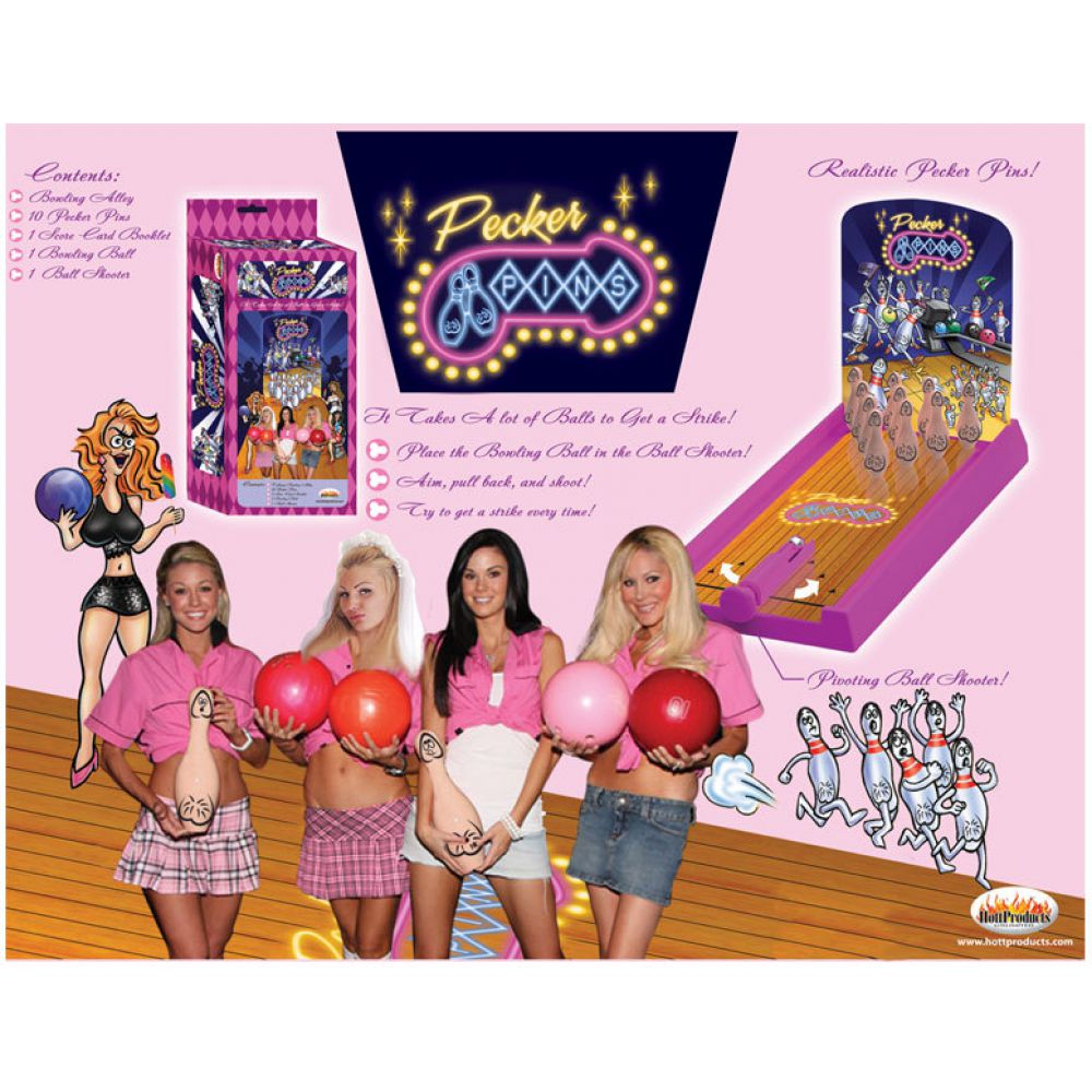 Hott Products Pecker Pins Bowling Game