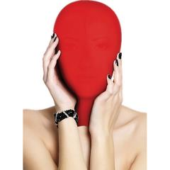 Ouch! Subjugation Full Hood Mask for Him and Her, One Size, Red