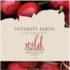 Intimate Earth Flavored Natural Lubricant, 0.1 Fl Oz Foil Pack, Wild Cherry