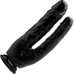 Shots Realrock Realistic Rubber Double Cock, 10 Inch, Black