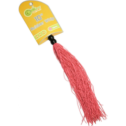 Whip Smart Mini Rubber Flogger by Adventure Industries, 10 Inch, Kinky Pink