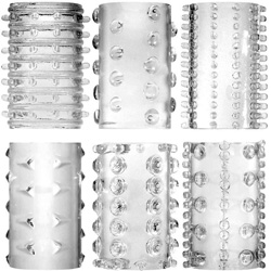 Adam and Eve Super Stretch Tickler Sleeves, Clear