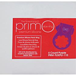 Screaming O PrimO Line Tux Rings 6 Count Box Purple