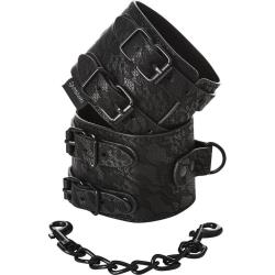 Sincerely by SportSheets Lace Double Strap Handcuffs, Black