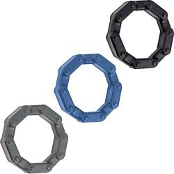 Anal-Ese Collection Chainlink Pack of 3 Silicone Cockrings
