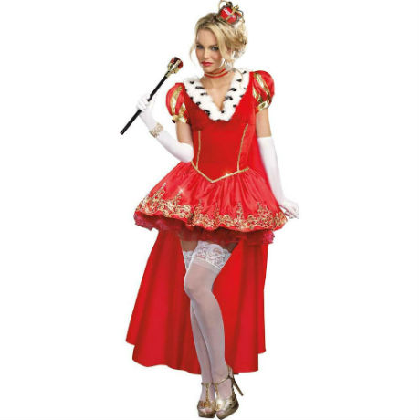 Dreamgirl the Royals Sexy French Queen Costume, Extra Large, Red
